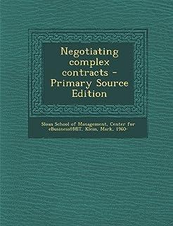 Negotiating Complex Contracts