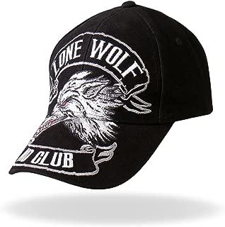 Hot Leathers BCA1030 Lone Wolf Baseball Hat (Black)