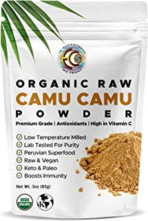 Earth Circle Organics Camu Camu Powder - Organic Berry Powder   Vitamin C, Antioxidants, Raw, Vegan   Pures...