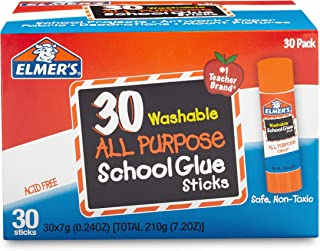 Elmer's All Purpose School Glue Sticks, Washable, 7 Gram,...