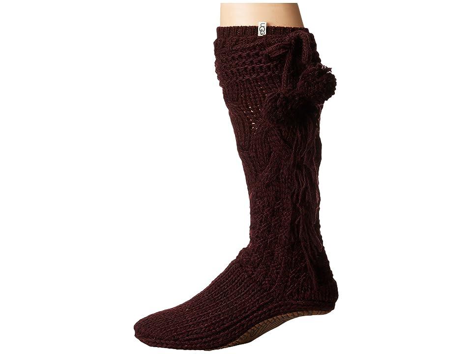 UGG Cozy Slipper Socks (Port Heather) Women