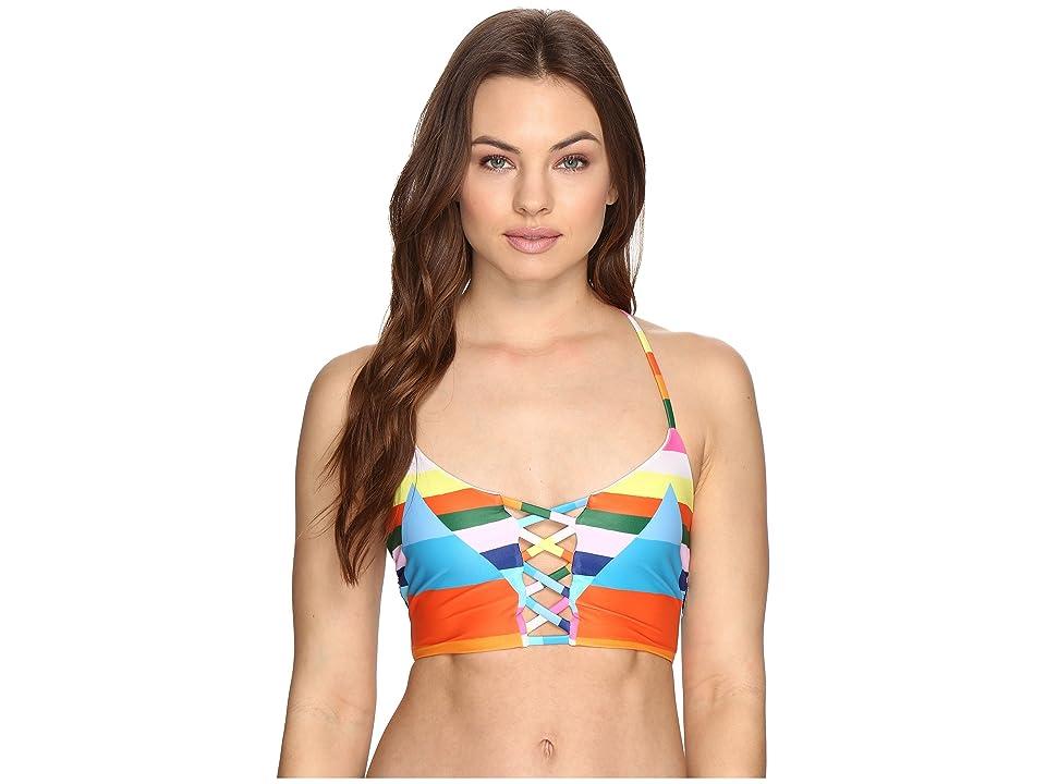 Mara Hoffman Vela Lattice Halter (Rainbow Multi) Women