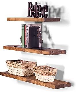 DAKODA LOVE Floating Shelves Solid Wood 36