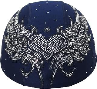 Helmetra Black Tribal Angel Wings Bling Rhinestone Blue Custom Helmet Cover