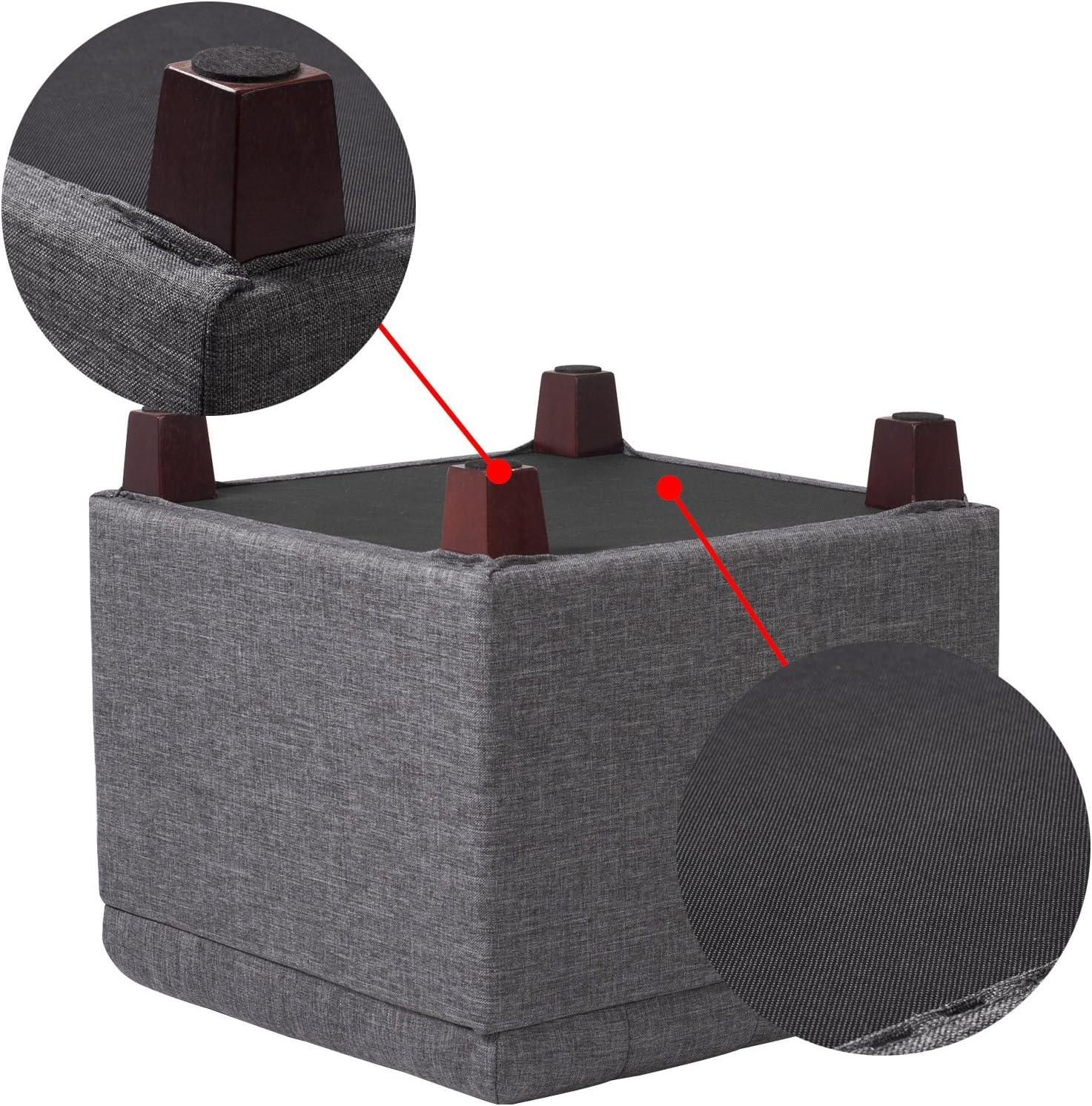 Gepolsterte Sitzfl/äche aus Leinen Aufbewahrungsbox Truhen Deckel abnehmbar 45 * 45 * 41CM Hellgrau SH18hgr WOLTU/® Sitzhocker Sitzw/ürfel mit Stauraum