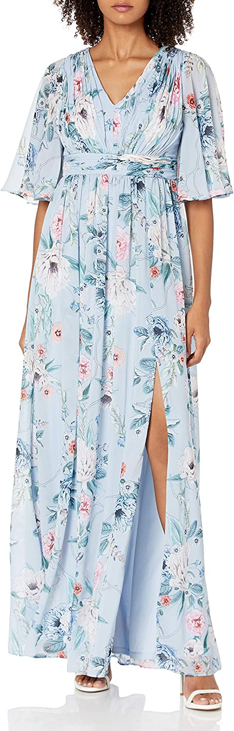 Adrianna Papell Women's Printed Beauty products Chiffon Gown Floral gift