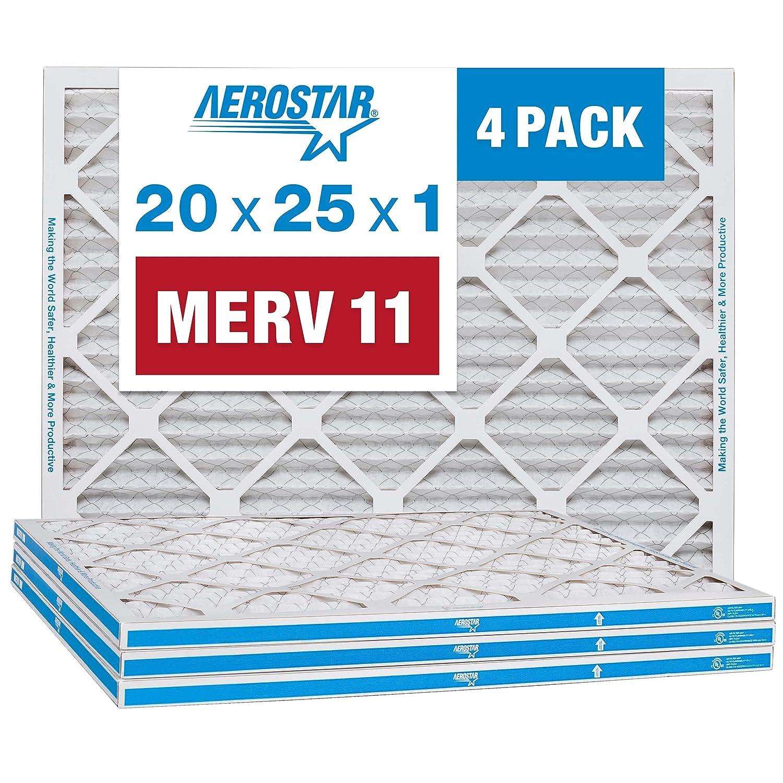 Aerostar 20x25x1 MERV 11 Pleated Air Filter, AC Furnace Air Filt