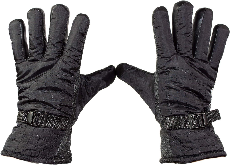 Thick Warm Winter Ski Snowboard Waterproof Gloves for Men or Women, Adjustable Wrist Strap, Non-Slip Grip