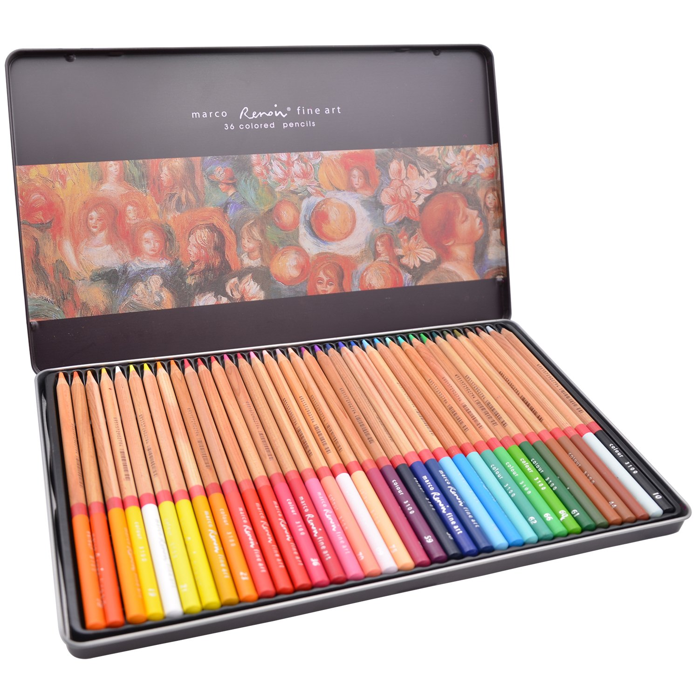 Minhe Art Set 36 Lapices de Colores Marco Renoir Fine Art 3100 Profesional Aceitoso Lápiz de Dibujo de Arte: Amazon.es: Hogar