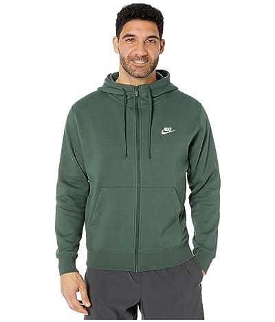 Nike NSW Club Hoodie Full Zip (Galactic Jade/Galactic Jade/White) Men