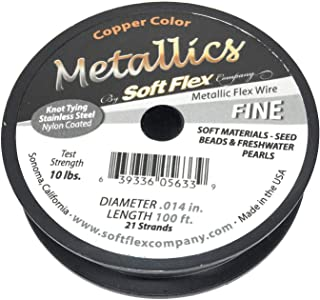 10907bc0a9f9 Soft Flex Beading Wire Copper Fine .014 Inch 49 Strand 100 Feet