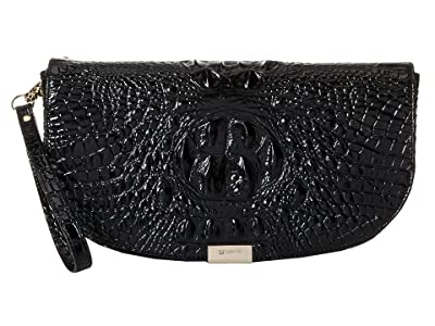 Brahmin Melbourne Sandrine Clutch (Black) Handbags