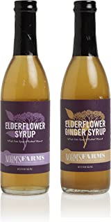 Norm's Farms Elderflower Syrup Combo Pack, 12 Ounce Bottles, Pack of 2
