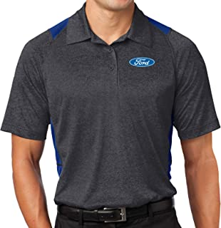 FORD LOGO EMBROIDERED PIQUE POLO SHIRT WORK OUTDOOR SPORT BIRTHDAY GIFT