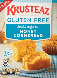 Krusteaz Gluten Free Honey Cornbread Mix, 15-Ounce Box