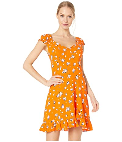 Free People Like a Lady Printed Mini (Orange) Women