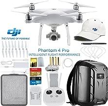 DJI Phantom 4 Pro Quadcopter Drone w/DJI Pilot's Hat & Hard Shell Backpack Bundle