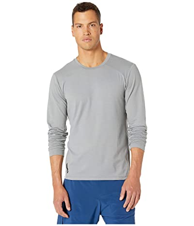 RYU Tech Tee Long Sleeve-Solid/Mesh (Titanium) Men