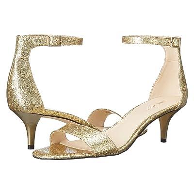 Nine West Leisa Heel Sandal (Light Gold Synthetic) Women