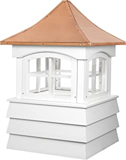 Good Directions 2130GV Guilford Window Cupola with Pagoda Style Copper Roof and Vinyl Shiplap Base, 30-Inch Square 49-Inch...