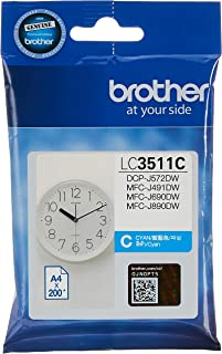 Brother LC3511C Original Ink Cartridge Compatible with DCP/MFC Series, 200 Pages, Cyan