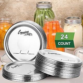24-Count, Regular Mouth Canning Lids for Ball, Kerr Jars - Split-Type Metal Mason Jar Lids for Canning - Food Grade Materi...