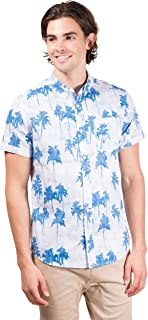 Men's Hawaiian Aloha Shirt Vintage Casual Button Down Tee