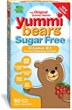 Yummi Bears Sugar Free Vitamin D3 Gummy Vitamin Supplement for Kids, 60 Gummies