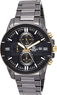 Casio Men'S Black Dial Stainless Steel Band Watch - Efr-543Bk-1A9Vudf
