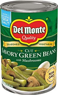 Del Monte Cut Savory Green Beans with Mushrooms, 14.5 Ounce (Pack of 12)