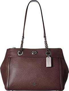 COACH Womens Turnlock Edie Carryall in Mixed Leather