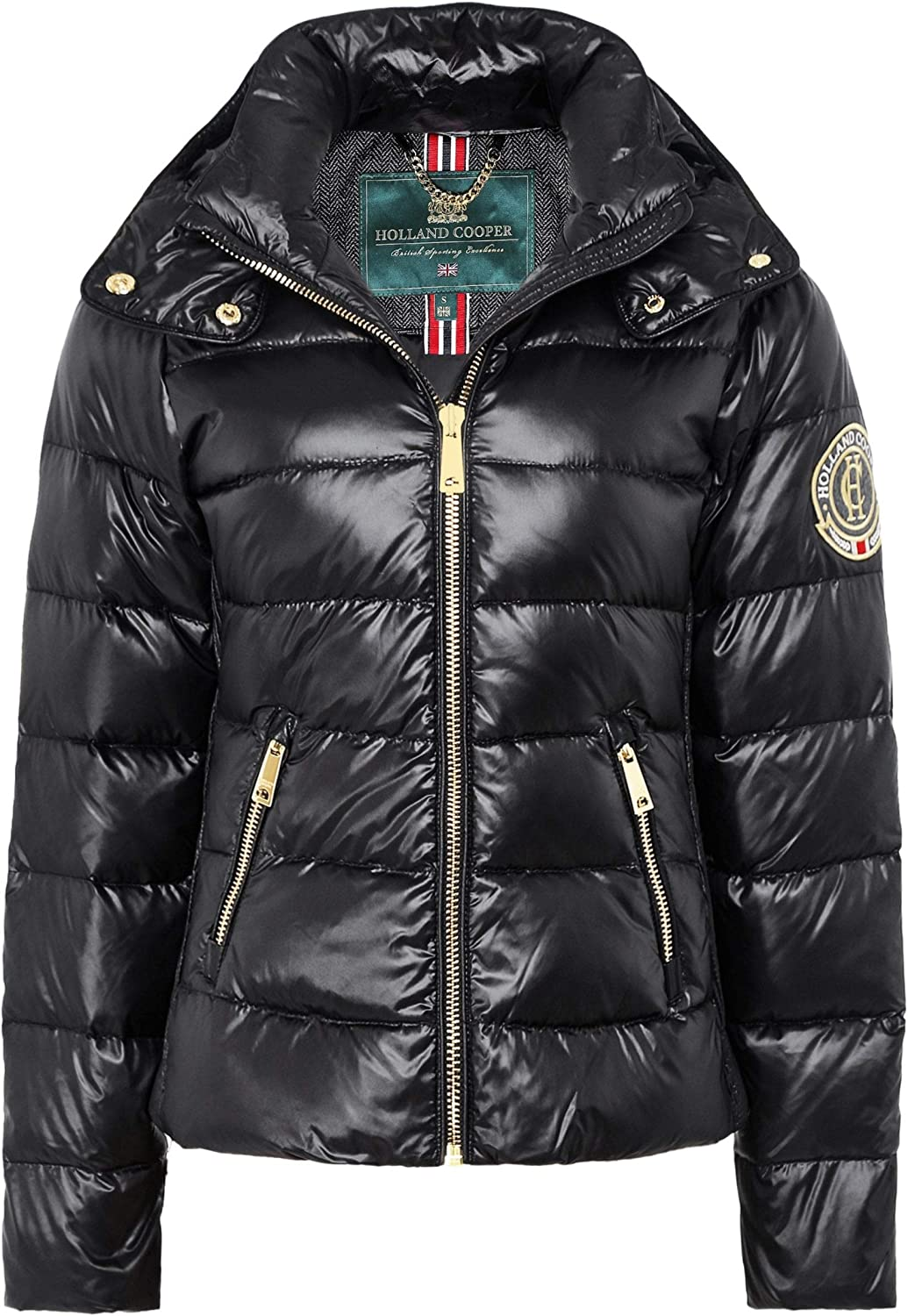 Holland Cooper Women's Megeve Down Puffer Coat Black