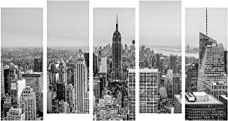 Paper Plane Design Photo Frames for Wall Decoration Skyscraper View Picture Split Panels Art Decor Set of Paintings in Liv...