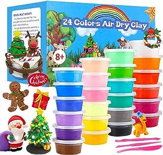 comprar comparacion QMAY 24 Colores Air Dry Clay, Arcilla de Modelado Ultraligero, Magic Clay Artist Studio Toy, Arcilla y Masa de Modelado no...