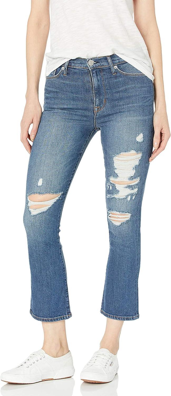 HUDSON Long Beach Mall Jeans Women's Fashion Brix High Rise Cropped Jean 5 Pocket Boot