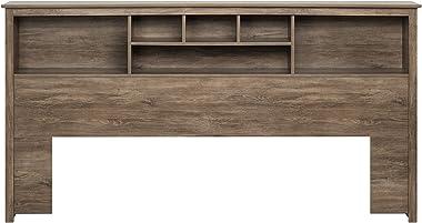 Prepac Bookcase Headboard, King, Drifted Gray