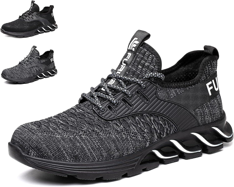 Furuian Steel Toe Shoes for Work Safety Womens Philadelphia Mall Max 76% OFF Men Comfortable