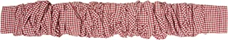 Creative Co-Op DA9098 Red Gingham Fabric Chandelier Cord Cover