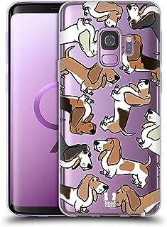 Head Case Designs Basset Hound Dog Breed Patterns 2 Soft Gel Case Compatible for Samsung Galaxy S9