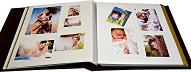 ZOVIEW Magnetic Self-Stick Page Photo Album, Family Album, Leather Cover, Hand Made DIY Albums Holds 3X5, 4X6, 5X7, 6X8,8X10