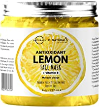 O Naturals Deep Cleansing Lemon & Vitamin B Gel Face Mask. Antioxidant Fights Acne, Pore Cleansing, Anti-Aging, Oil Control & Moisturizing. Hyaluronic Acid, Turmeric & Apple Extract Neem Oil Vegan 8oz