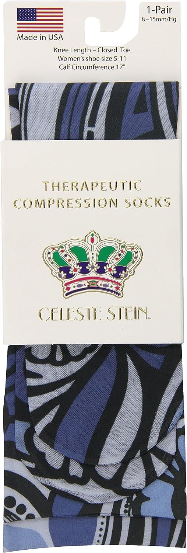 Celeste Stein Therapeutic Compression Socks Blue Cheap sale 8-15 mm Megan Sale
