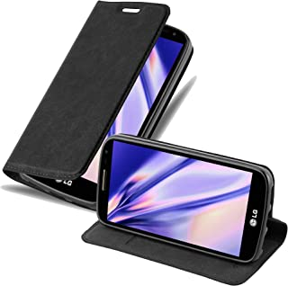 Cadorabo Book Case Works with LG G2 Mini Wallet Etui Cover NIGHT BLACK DE-113650
