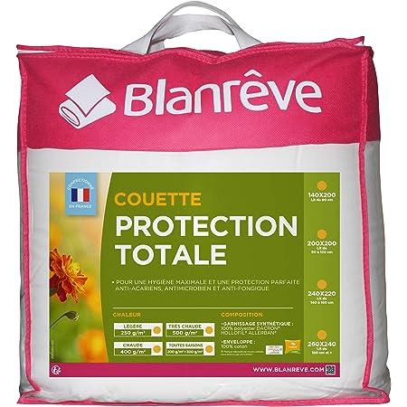 Blanrêve - Couette Très Chaude - Protection Totale - anti acariens et antibactérienne - 240x220 cm