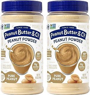 Peanut Butter & Co. Pure Peanut Powder, Non-GMO Project Verified, Gluten Free, Vegan, 6.5 oz Jars (Pack of 2)