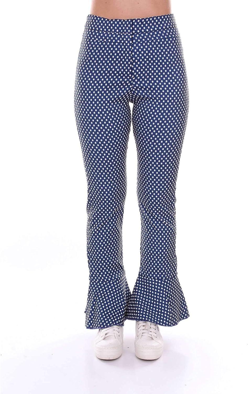 Akep Women's KE701blueE bluee Cotton Pants