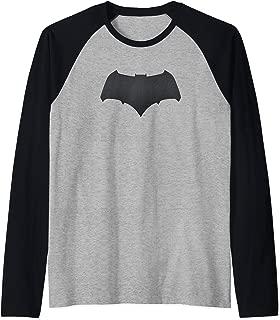 Batman v Superman Batman Logo Raglan Baseball Tee