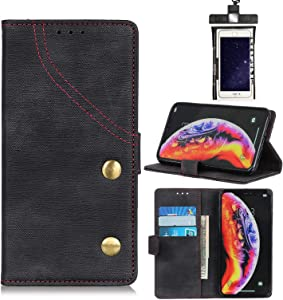 Love Dua Leather Case for iPhone Premium Leather Kickstand Card Slots Case With Free Waterproof Bag