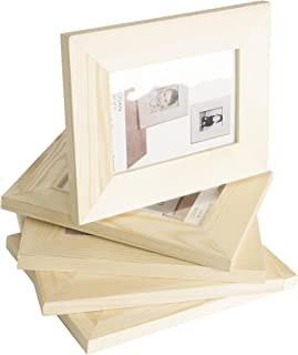 WALLNITURE Kid's DIY Projects Picture Frames Crafting Unfinished Wood 4x6 Set of 5