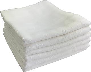 6-pack gasvävsblöjor   spotdukar 100 % bomull – tygblöjor & gasvävsdukar för baby   Oeko-Tex certifierad, 80 x 70 cm (6 vit)